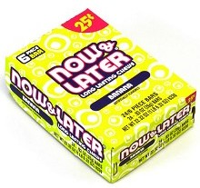 Now & Later Banana Candy Taffy 24ct boxes
