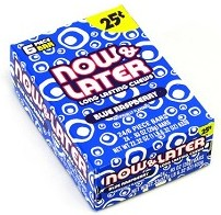 Now and Later Blue Raspberry Candy 24ct boxes 120ct soft tub