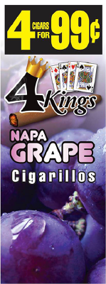 4 Kings Napa Grape Cigarillos 4 for 99 / 60ct