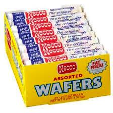 Necco Wafers Assorted - 24 rolls per display box