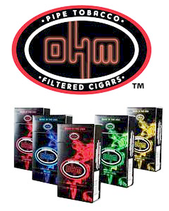 OHM Blue Filtered Cigars - OHM Blue Little Filtered Cigars 10/20's-200 cigars