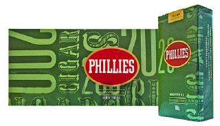 Phillie Menthol Little Filtered Cigars 10/20's - 200 Cigars
