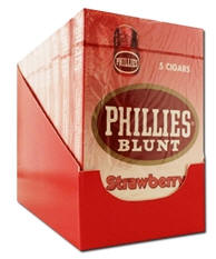 Phillie Strawberry Blunt Cigars pack 10/5's - 50 cigars