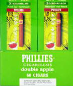 Phillie Double Apple Cigarillo Cigars 60ct