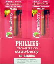 Phillie Strawberry Cigarillo Cigars Buy 40 Get 20 Free