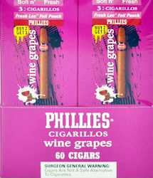Phillie Wine Grapes Cigarillo Cigars Buy 40 Get 20 Free