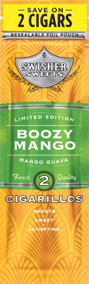 Swisher Sweets Boozy Mango Cigarillo 2 for 99¢ Cigars