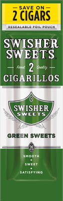 Swisher Sweets Green Sweets Cigarillo 2 for 99¢ Cigars