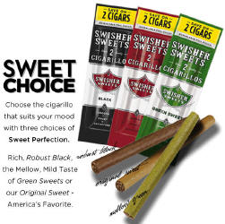 Swisher Sweets Black 2 for 99¢ Cigarillos 60ct Cigars