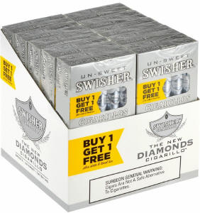 Swisher Sweets No Tip Diamonds Cigarillo Cigars Buy 1 Get 1 Free (100 cigars)
