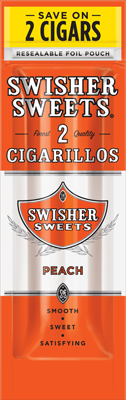 Swisher Sweets Peach Cigarillo 2 for 99¢ Cigars