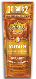 Swisher Sweets Mini Sticky Sweets 15/3's - 45 cigars