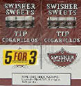 Swisher Sweets Cigarillo Tips Cigars Buy 1 Get 1 Free (100 cigars)