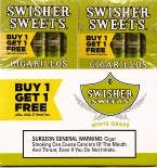 Swisher Sweets Cigarillos White Grape  Buy 1 Get 1 Free (100 cigars)