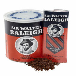 Sir Walter Reigh Pipe Tobacco 14oz cans & 1.5oz pouches