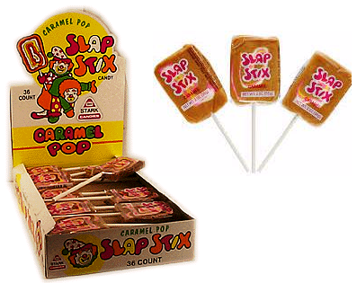 Slap Stix Carmel Lollipop 36ct