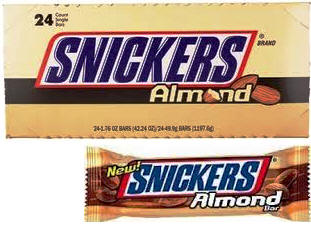Snickers Almond - 24 bars per display box