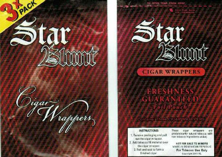 Star blunt wraps Blueberry - Grape - Strawberry 30 pouchs 3 per pouch 90 wraps each box