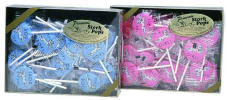 Primrose Stork Pops It's a Boy - It's a Girl Lolly Pops