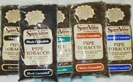 Super Value Pipe Tobacco - Vanilla - Buttered Rum - Cherry Cavendish - Whiskey Cavendish - Amaretto - Natural 12oz Bags