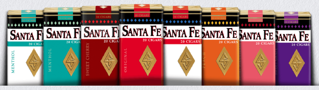 Santa Fe Peach Filtered Cigars - Santa Fe Peach Little Filtered Cigars 10/20's - 200 cigars