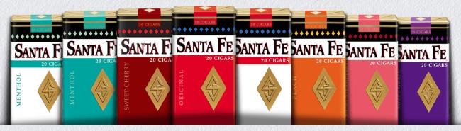 Santa Fe Cherry Filtered Cigars - Santa Fe Cherry Little Filtered Cigars 10/20's - 200 cigars