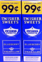 Swisher Sweets Blueberry Cigarillo 2 for 99? 60 Cigars