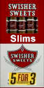 Swisher Sweets Slims Cigars Buy 1 Get 1 Free (100 cigars)