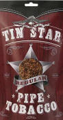 Tin Star Regular Pipe Tobacco 8oz bags