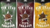 Tin Star Regular Pipe Tobacco 3oz & 8oz bags