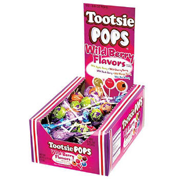 Tootsie Roll Wild Berry Pops Assorted Flavors 100ct Candy