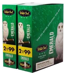 White Owl Emerald 2 for 99¢ cigars - 60 cigarillos