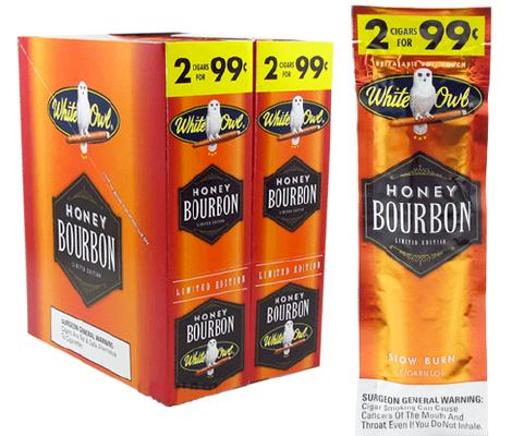 White Owl Honey Bourbon Cigarillo 2 for 99ct Cigars