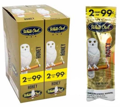 White Owl Honey 2 for 99¢ Cigarillos 60ct Cigars