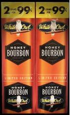 White Owl Honey Bourbon 2 for 99¢ cigars - 60 cigarillos