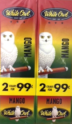 White Owl Mango 2 for 99¢ cigars - 60 cigarillos