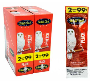 White Owl Peach Cigarillo 2 for 99 Cigars