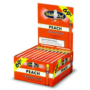 White Owl Peach Cigarillo Cigars Bonus Box 60ct