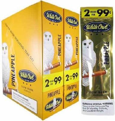 White Owl Pineapple Cigarillo 2 for 99 Cigars