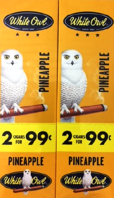 White Owl Pineapple 2 for 99¢ cigars - 60 cigarillos