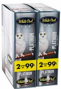 White Owl Platnum 2 for 99¢ cigars - 60 cigarillos