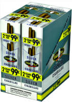 White Owl Silver Cigarillo 2 for 99 Cigars