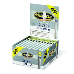 White Owl Silver Cigarillo Cigars Bonus Box 60ct