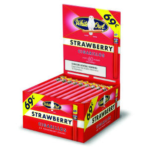 White Owl Strawberry Cigarillo Cigars Bonus Box 60ct