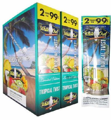 White Owl Tropical Twist 2 for 99¢ cigars - 60 cigarillos