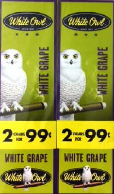 White Owl White Grape 2 for 99¢ cigars - 60 cigarillos