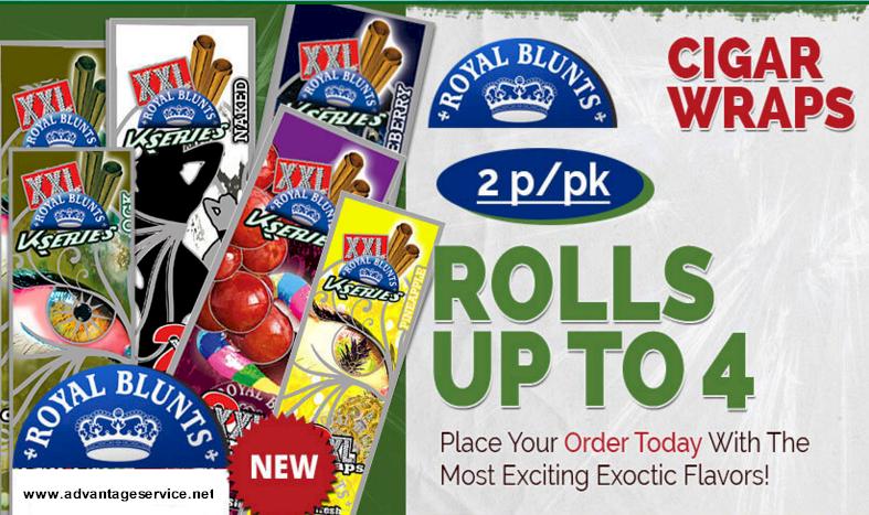 Royal Blunts XXL Blu Magic Cigar Wraps - XXL Blu Magic Royal Blunts Cigar Wraps 25/2's -  50 Royal Blunts XXL Blunt Wraps