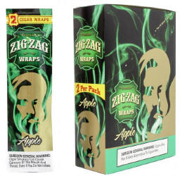 Zig Zag Apple Blunt Cigar Wraps 25-2ct - 50 wraps