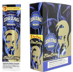 Zig Zag Blueberry Cigar Wraps 25-2ct - 50 wraps