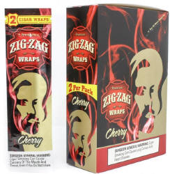 Zig Zag Cherry Cigar Wraps 25-2ct - 50 wraps